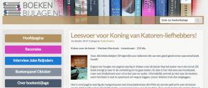 Boekenbijlage.nl: 'een steengoed debuut'
